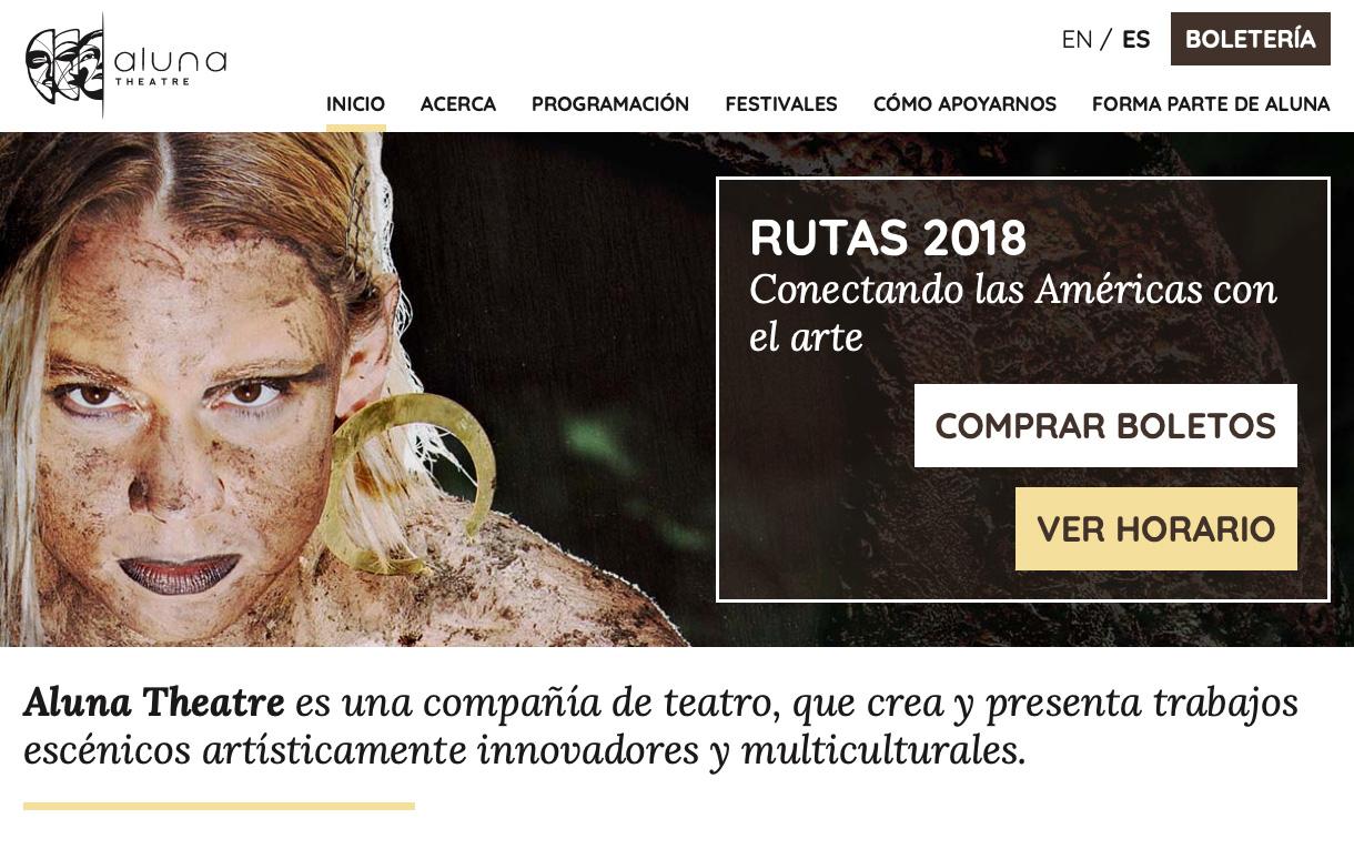 Spanish homepage