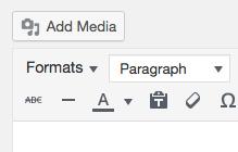 Formats dropdown