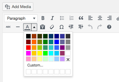 Default colour picker