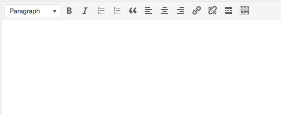 One row of formatting buttons