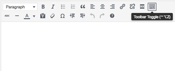 Two rows of formatting buttons